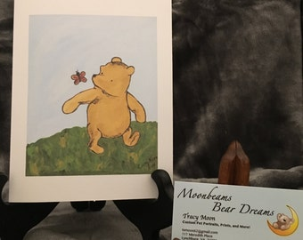 Classic Winnie the Pooh greeting card thinking of you just because all occasion miss you congratulations note card sorry get well