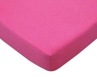 Jersey Cotton Crib Sheet Fuchsia/Navy/Royal/Turquoise/Apple Green
