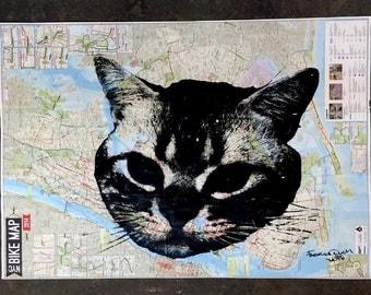 Cat map  Etsy