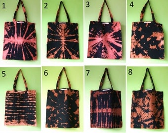Unique handmade design bleach dye bags .FrancescaRoseJ.Only one available of each, choose which one you would like from the dropdown menu.