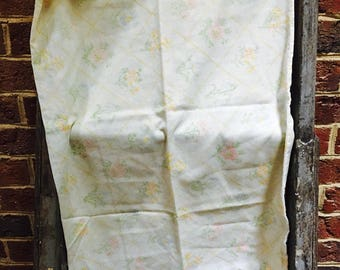 Vintage Retro yellow and green and pink floral standard pillowcase