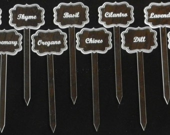 Customized Acrlyic Herb Garden Markers  - FREE SHIPPING