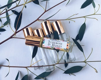 TUBEROSE & HONEY Natural Roll-On Perfume   Natural Perfume