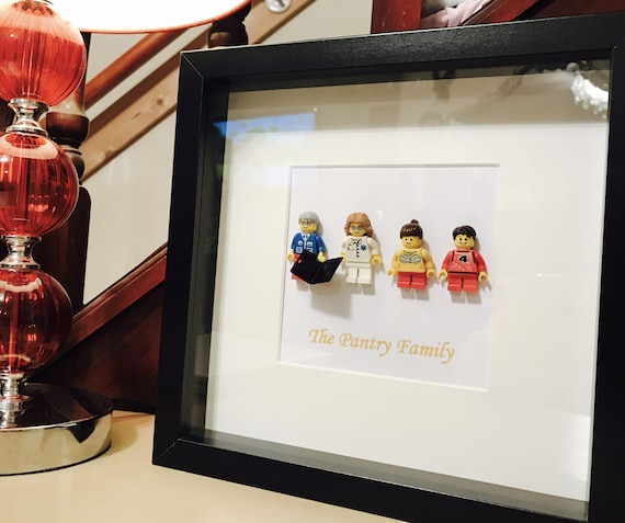 Lego family gift frame - personalised!