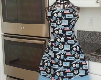 Women's layered US Air Force apron.