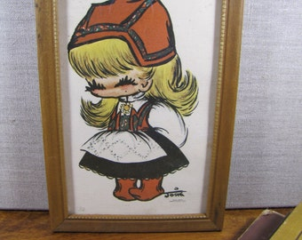 Small Framed Print - Josie - Heins - Russian Girl