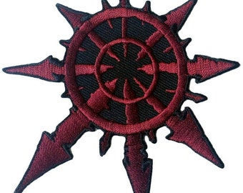 Red Chaos star of Undivided Warhammer 40,000 3.5 Inches applique Patch