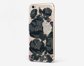 Flower iPhone 7 Case iPhone 6 Case Black Rose iPhone 7 Plus Case iPhone 6S Plus Case iPhone SE Case iPod Flower Galaxy Case Rose Xperia Case