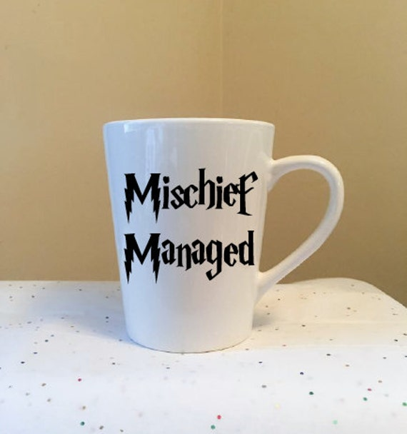 Mischief Managed White Coffee Cup