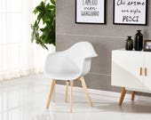 PN Homewares Rico DA Tub Chair Dining Chair Office Chair Living Room Chair Retro Scandinavian Chair Modern Contemporary Chair
