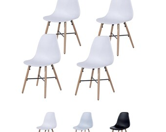 Enzo Dining Chair Modern Contemporary School Style Designer Chair DSW DAW Inspired Chair Eames Modern Chair (Set OF 4)