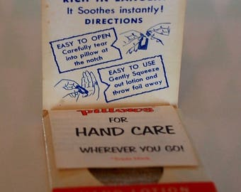 Vintage Hand Lotion Pillows