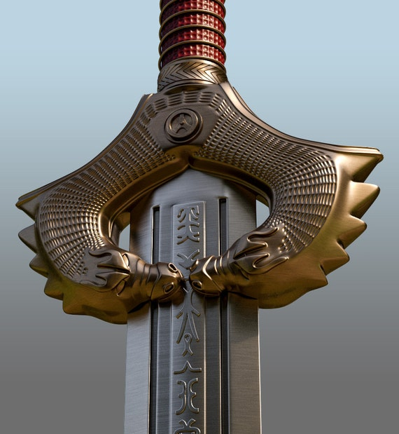 Wonder Woman HD Sword for 3D-printing from MaxCrft on Etsy Studio