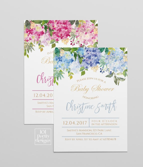 Floral baby shower party invitation boy girl printable baby shower il570xn filmwisefo