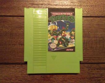 Teenage Mutant Ninja Turtles NES Cartridge Raspberry Pi Zero Game Console w/ SNES Controller