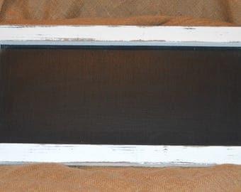 Rustic white Chalkboard framed, wedding, birthday, sandwich board, black chalkboard, country decor, farmhouse decor