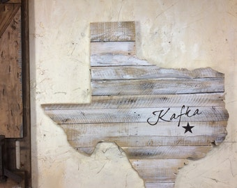 Texas Pallet State Cutout: Size Options Avail