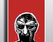 MF Doom Illustration - High Quality A3 / A2 Print