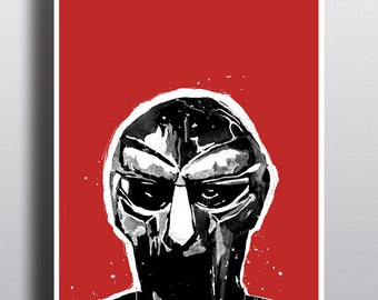MF Doom Illustration - High Quality A3 / A2 Print