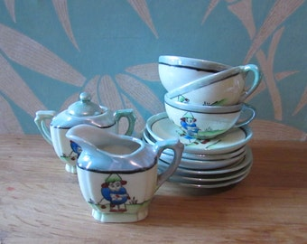 1940s Fairylite lustre porcelain child's/doll's tea set