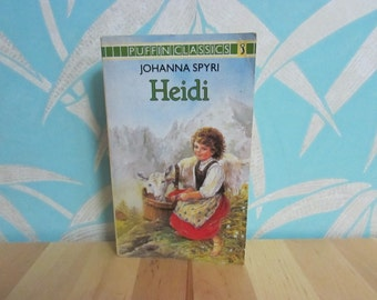 1983 Puffin Classics Heidi by Johanna Spyri paperback children's book