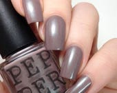 Brown Gray Nail Polish Green Shimmer Indie Nail Polish Going Topless Pepper Pot Polish Gift Under 15 Gift For Her