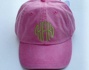 Monogram Baseball Cap || Embroidered Dog Lover Hat || Monogram Gift by Three Spoiled Dogs Made in USA