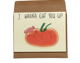 pumpkin valentines day card pig valentines day card vegan valentines day card wife naughty valentines day