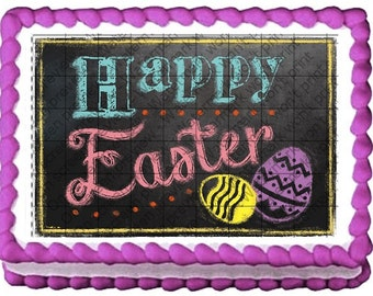 HAPPY EASTER Edible Image
