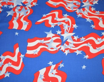 American Flag Fabric, Red White Blue Fabric, Patriotic Fabric, Quilting Fabric, Fabric, Blue Fabric, Flag Fabric