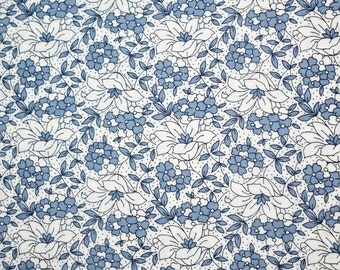 Blue Floral Fabric, Blue Fabric, Floral Fabric, Country Blue Fabric, Country Blue Floral Fabric, Quilting Fabric, Fabric,