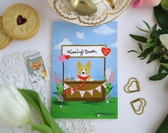 Corgi Kisses Card - I Love You Card - Greeting Card
