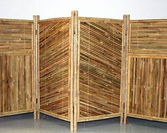 "Four panel bamboo screen enclosure, 24""W x 48""H per panel, BSC-684"