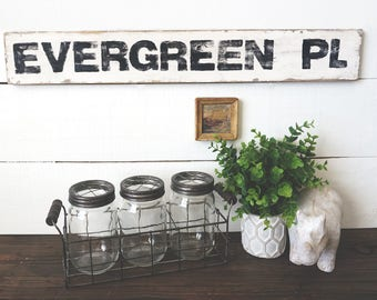 Customized Street sign in Farmhouse style - Your own street