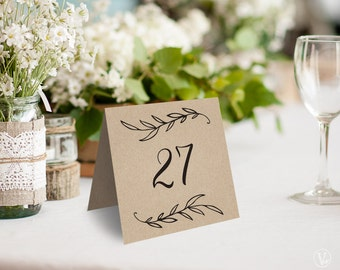 Wedding Table Numbers 1u201340 Rustic Wedding Table Numbers Template Reserved and Head : table tent numbers - memphite.com