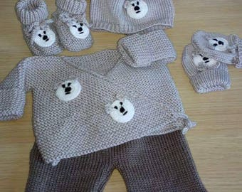 whole baby jacket pants mittens liner Cap 0/3 months
