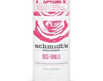 Rose + Vanilla (Stick, 3.25 oz.) - Schmidt's Natural Deodorant