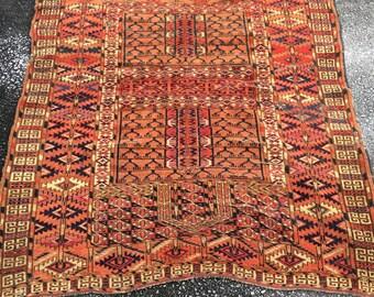 Antique Caucasian Rug Handmade 1920's