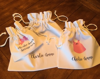 Personalized Drawstring Travel Bags/ Baby luggage/ Baby Shower Gift/ Infant Toiletries