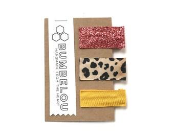 Beelien Clip Set - Magenta and Cheetah