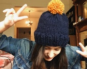 University of Michigan Hat // blue and yellow // navy and mustard