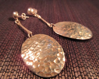 Tribal Hammered Sterling Silver Earrings - Mexico