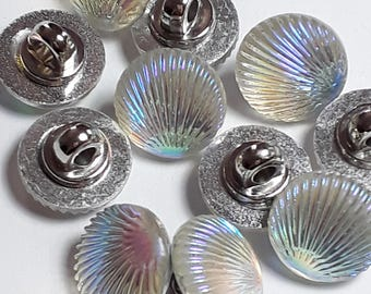 10pcs Shell Buttons AB - Shank Buttons - 12mm Buttons - Sewing Buttons - Acrylic Plastic Buttons - Buttons For Clothing - B44074