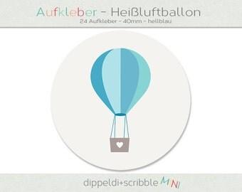 Sticker baby balloon light blue