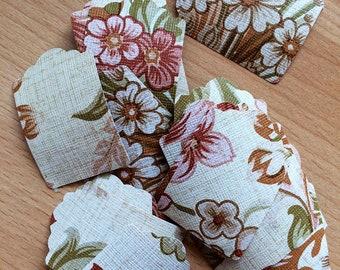 Vintage Wallpaper Mini Tag Die Cuts