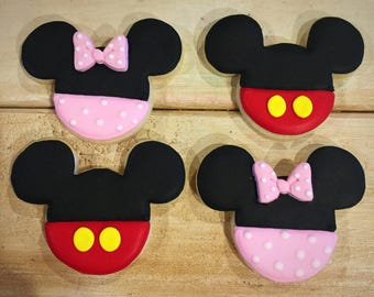Minnie & Mickey Mouse Sugar Cookies - 1 Dozen