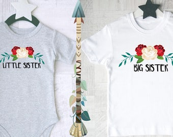 Big and little sister matching outfits. Outfits for big sister and little sister. Sister Gifts.