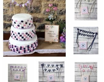 Mr and mrs cake bunting, wedding cake topper, cake bunting, wedding bunting, mr and mr, mrs and mrs, just married, celebration