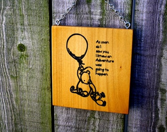 Winnie the Pooh wall hanging sign