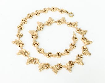 Gold Necklace   Gold Interlocking Pieces   Gold Choker